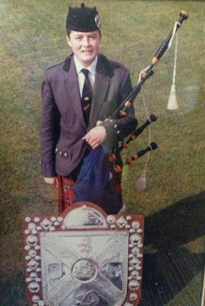 Brian with his first Cowal Shield